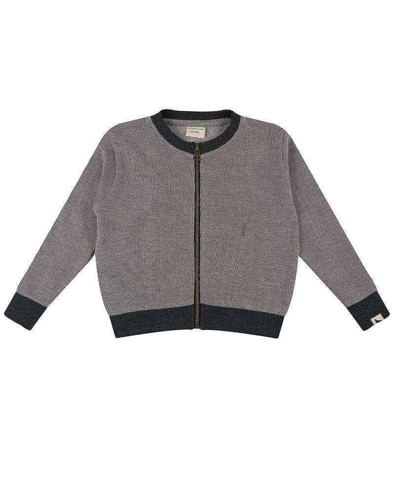 Textured Jersey Bomber Jacket - Choulala Box