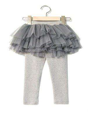 Tulle Grey Skirt Leggings - Choulala Box