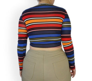 The Color Block Wrap Top