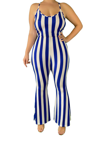The Pinned Up Striped Jumpsuit