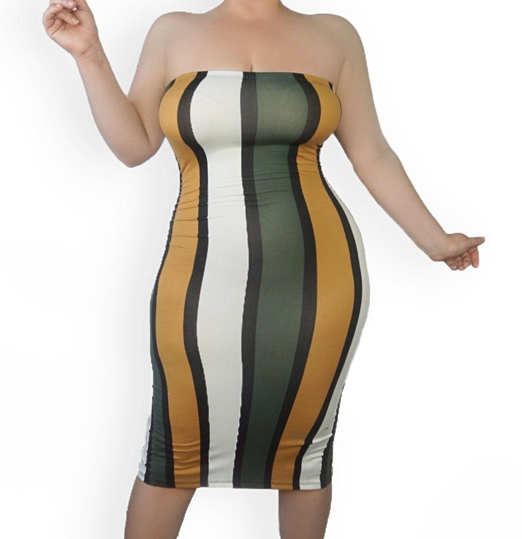 The Color Block Tube Dress