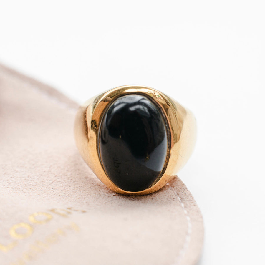 ABYSS BLACK ONYX RING