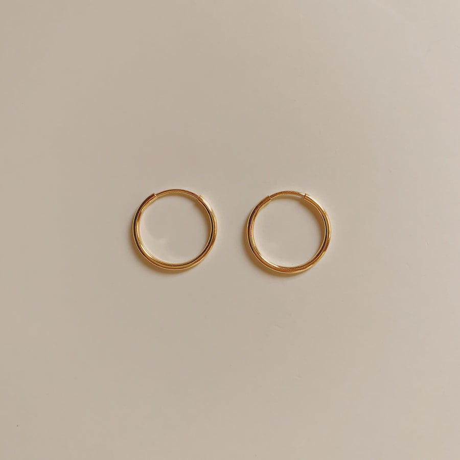 GOLD-FILLED INFINITE HOOPS (1PAIR)