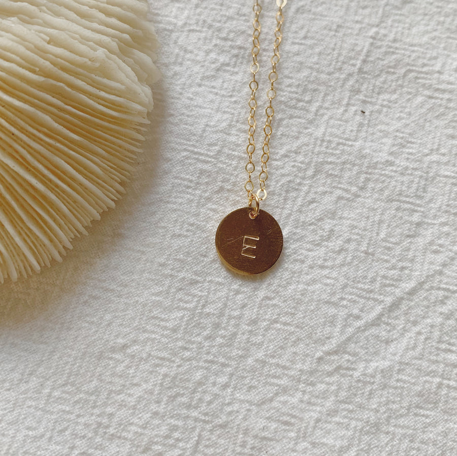 Custom Initial Necklace (Gold-Filled)
