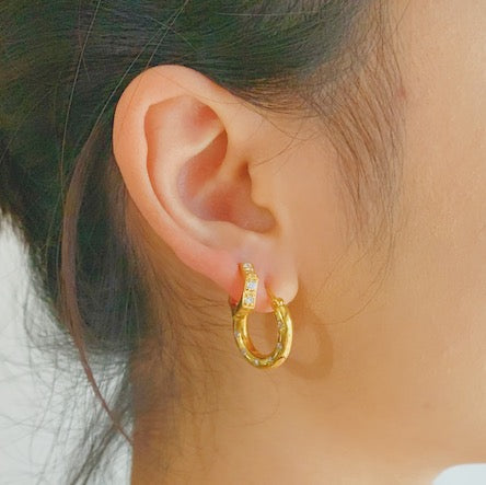 Nova Chunky Starburst Hoop Earrings