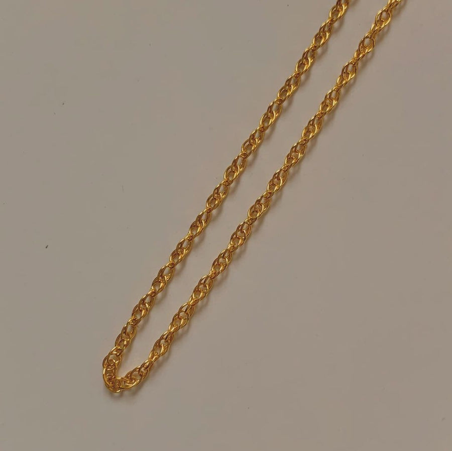 ROPE CHAIN GOLD NECKLACE