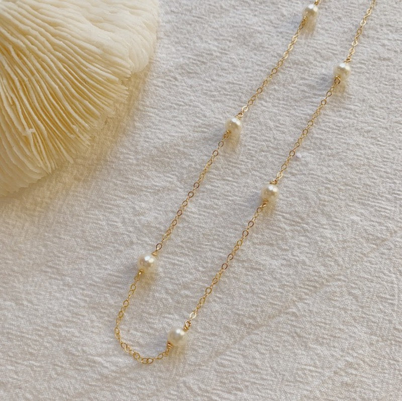 Bella Satellite Pearl Necklace