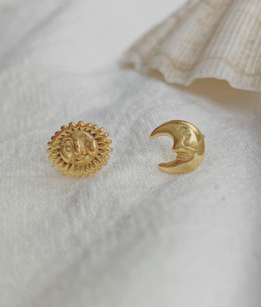 Solar-Luna Stud Earrings
