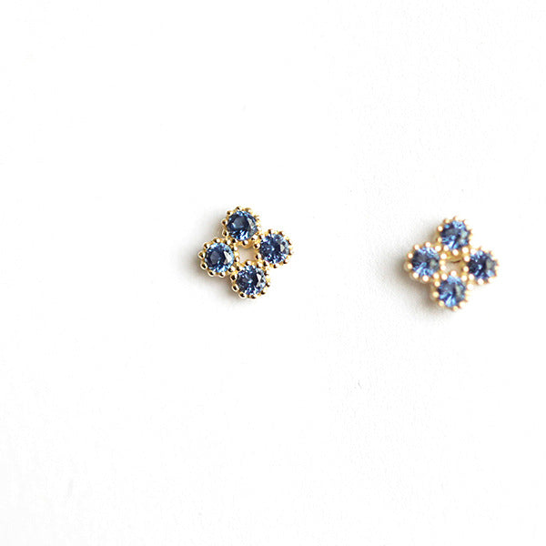 VERONICA AND BUTTERFLY STUD EARRING SET (GOLD VERMEIL)