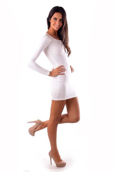 Classic Black or White Bodycon Dress - Fashion Flash Boutique
