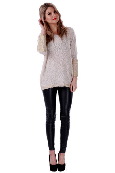 GRAND BAZAAR KNIT - BEIGE - Fashion Flash Boutique