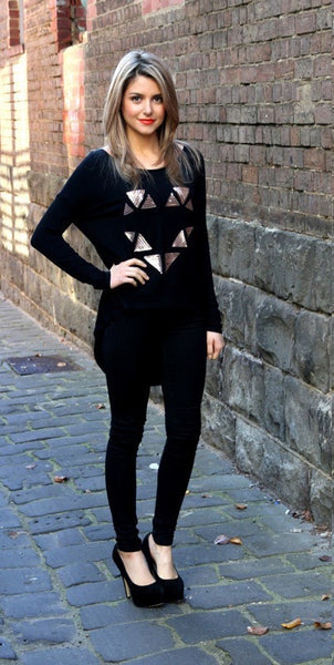 Queen of Hearts Top Black - Fashion Flash Boutique