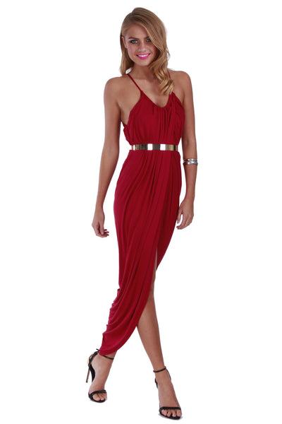 Empire Maxi Red Wine - Fashion Flash Boutique