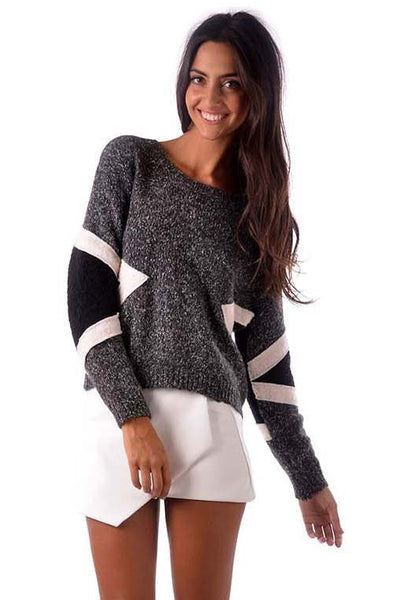 Cross The Line Knit - Fashion Flash Boutique