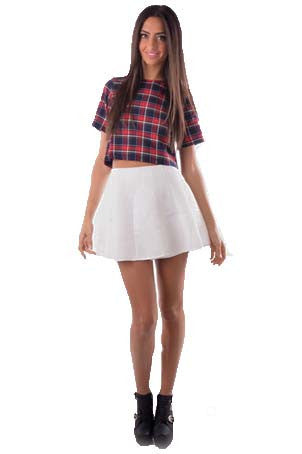 Plaid Crop  Top - Fashion Flash Boutique