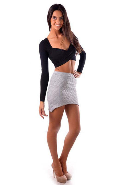 Crossover Crop Top Black - Fashion Flash Boutique