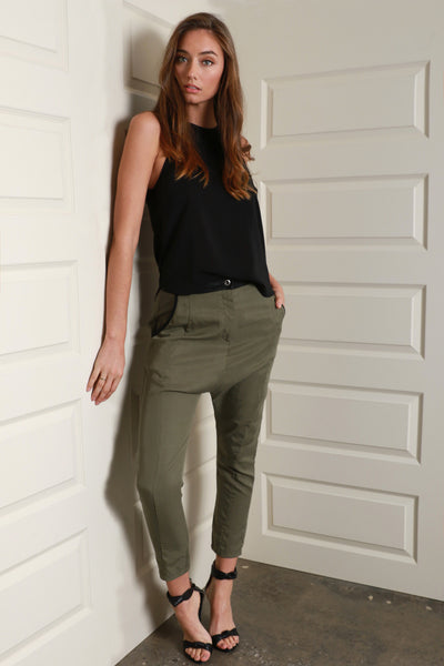 NIGHTWALKER PANTS l KHAKI - Fashion Flash Boutique