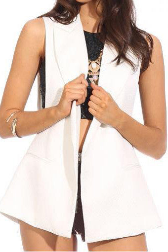 White Williow Vest - Fashion Flash Boutique
