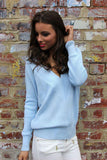Varsity Sweater Blue - Fashion Flash Boutique