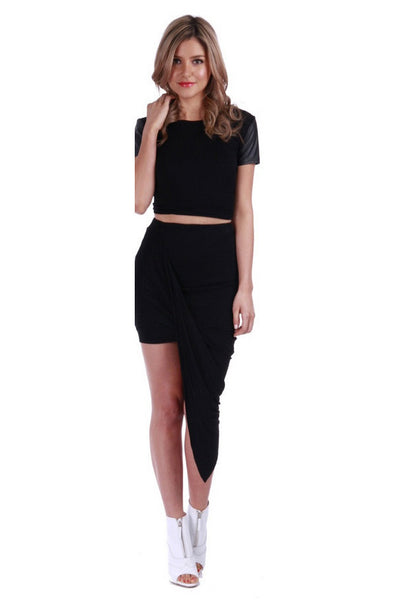 LORETTA SKIRT - BLACK - Fashion Flash Boutique