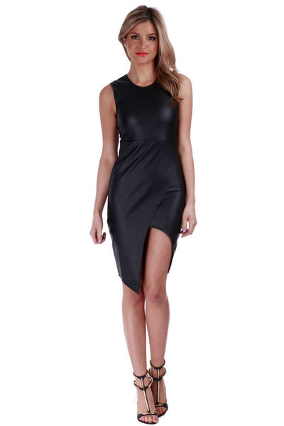 Leatherette Lover Dress - Fashion Flash Boutique