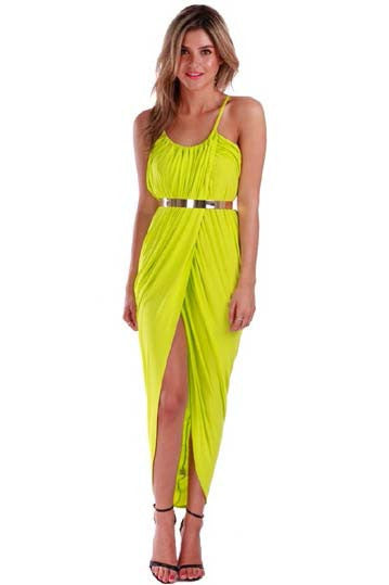 Empire Maxi Lime - Fashion Flash Boutique