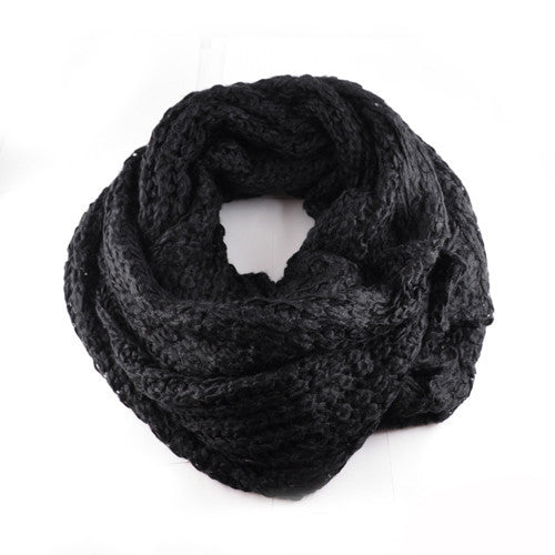 Infinity Scarf Black - Fashion Flash Boutique