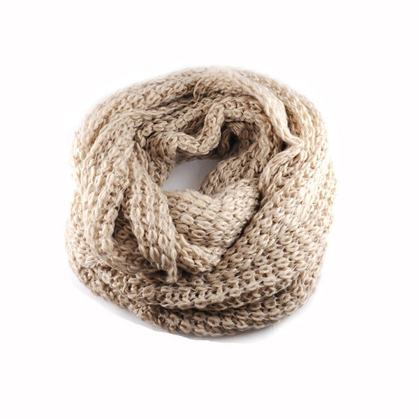 Infinity Scarf Beige - Fashion Flash Boutique