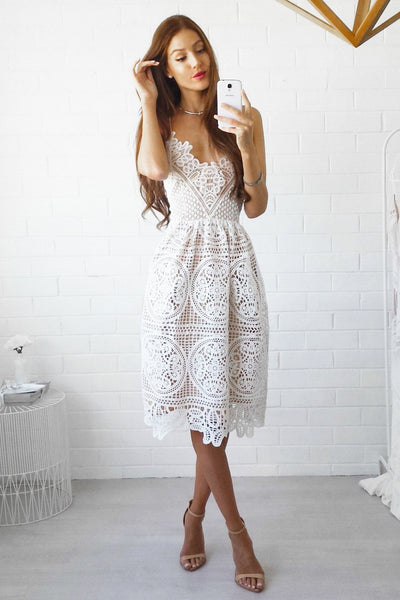 ANNABELLE DRESS - WHITE - Fashion Flash Boutique