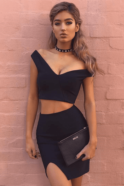 Stella Set - Black - Fashion Flash Boutique