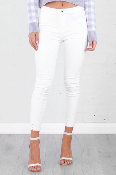 CAVO WHITE JEANS - Fashion Flash Boutique