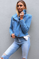 DARIA DENIM JACKET - Fashion Flash Boutique