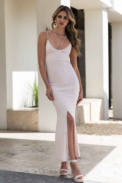 DRUNK IN LOVE DRESS - LIGHT BLUSH - Fashion Flash Boutique