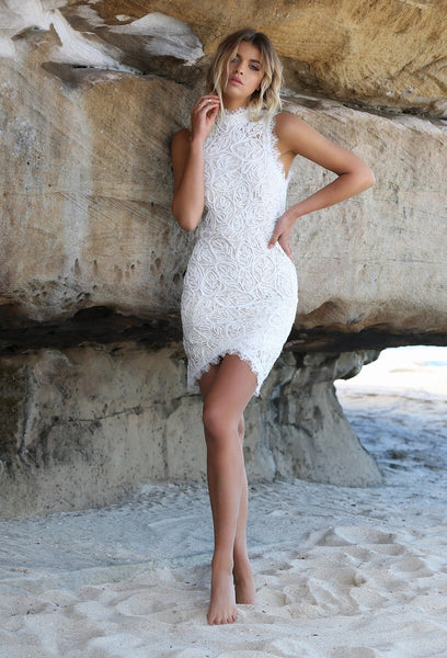 CAMILE DRESS - WHITE - Fashion Flash Boutique