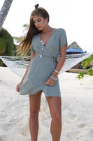 LEONI DRESS - KHAKI - Fashion Flash Boutique