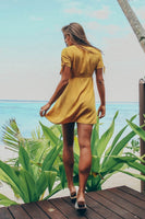 LEONI DRESS - MUSTARD - Fashion Flash Boutique