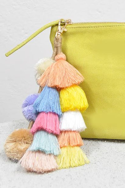 LIVELY TASSEL CLUTCH - Fashion Flash Boutique