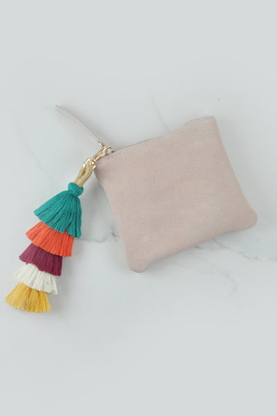 LIVELY TASSEL PURSE - BABY PINK - Fashion Flash Boutique
