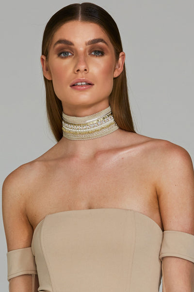 LUCID NECKPIECE - NUDE - Fashion Flash Boutique