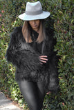 MARMONT FAUX FUR COAT - BLACK - Fashion Flash Boutique