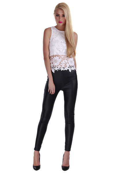 Lucy Lace Top White - Fashion Flash Boutique