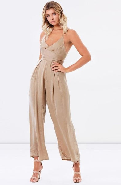 PARIS PANTSUIT - CHAMPAGNE - Fashion Flash Boutique