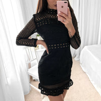 Riverdale Lace Long Sleeve Dress | Black - Fashion Flash Boutique