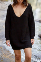 SUNDAY MORNINGS DRESS - BLACK - Fashion Flash Boutique