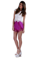 Santa Monica Lace Shorts | Purple