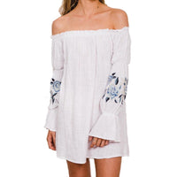Tully Off Shoulder Dress | White