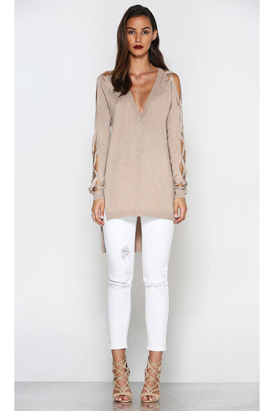 FUSION KNIT BEIGE - Fashion Flash Boutique