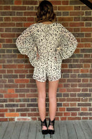 WHAT NOW PLAYSUIT - SPOT PRINT - Fashion Flash Boutique