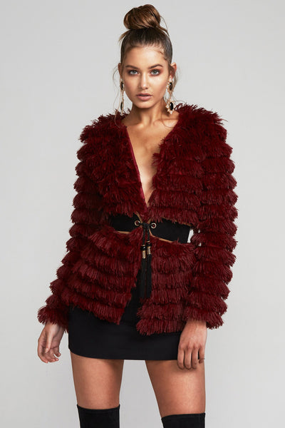 YOLETTA FAUX FUR JACKET - Fashion Flash Boutique