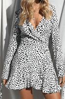 FREYA WHITE WRAP DRESS - Fashion Flash Boutique